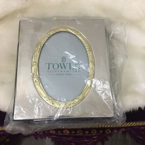 Towle silversmith photo album new gold silver blue